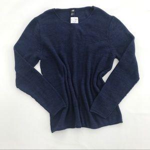 NWT H&M navy blue knit sweater XL